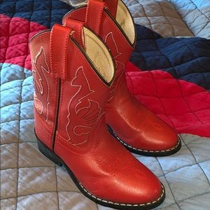 Kids red cowboy boots